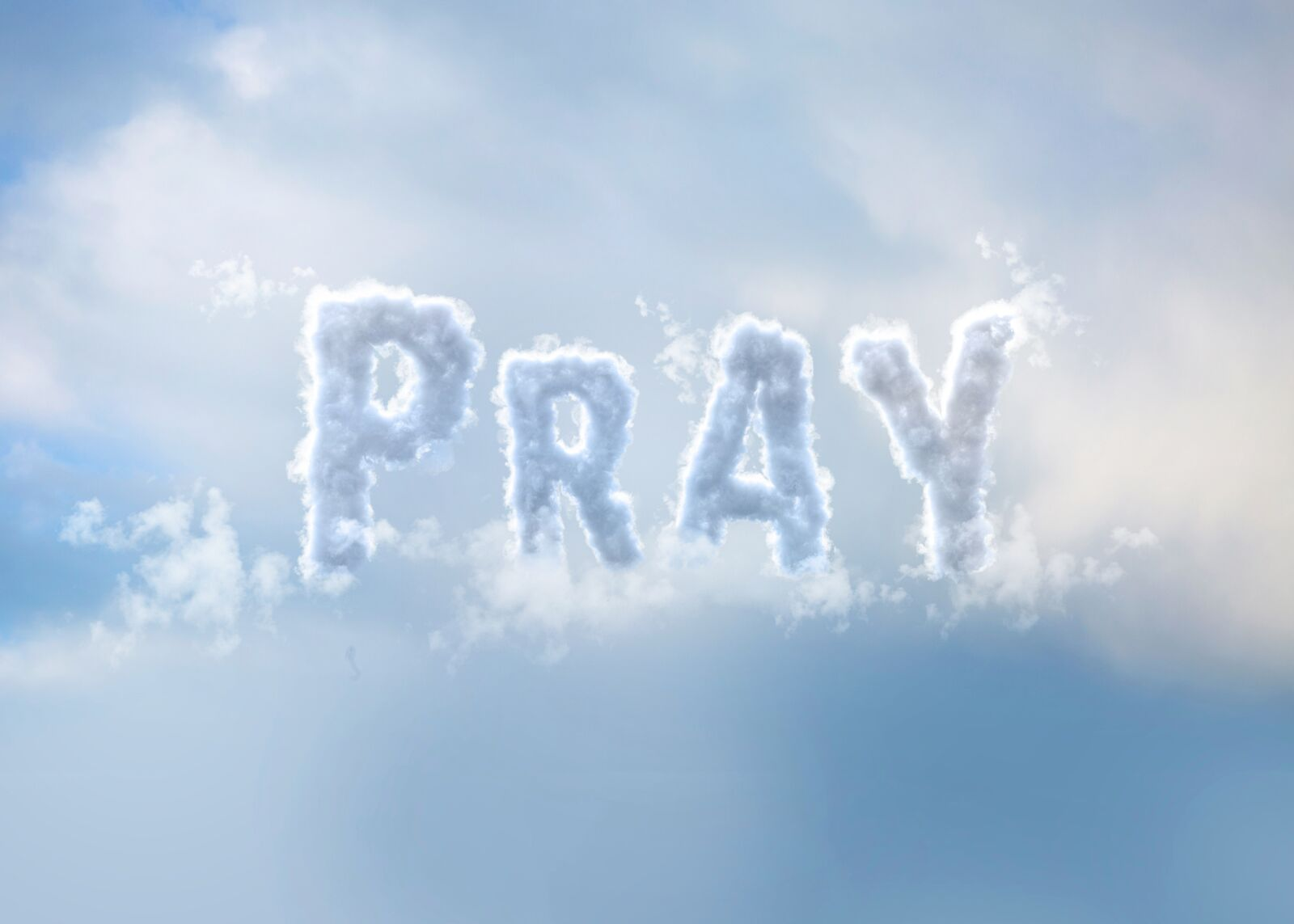 Pray Creative Clouds Lettering