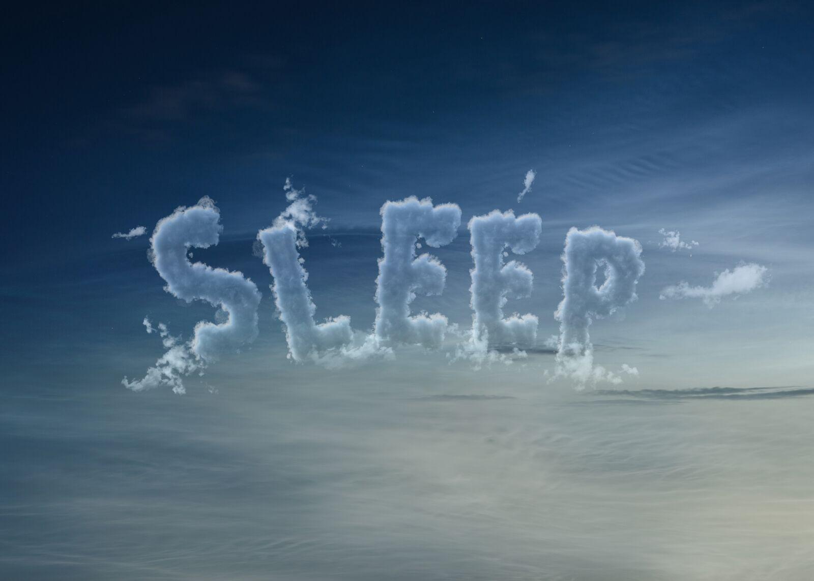 Sleep Creative Clouds Lettering