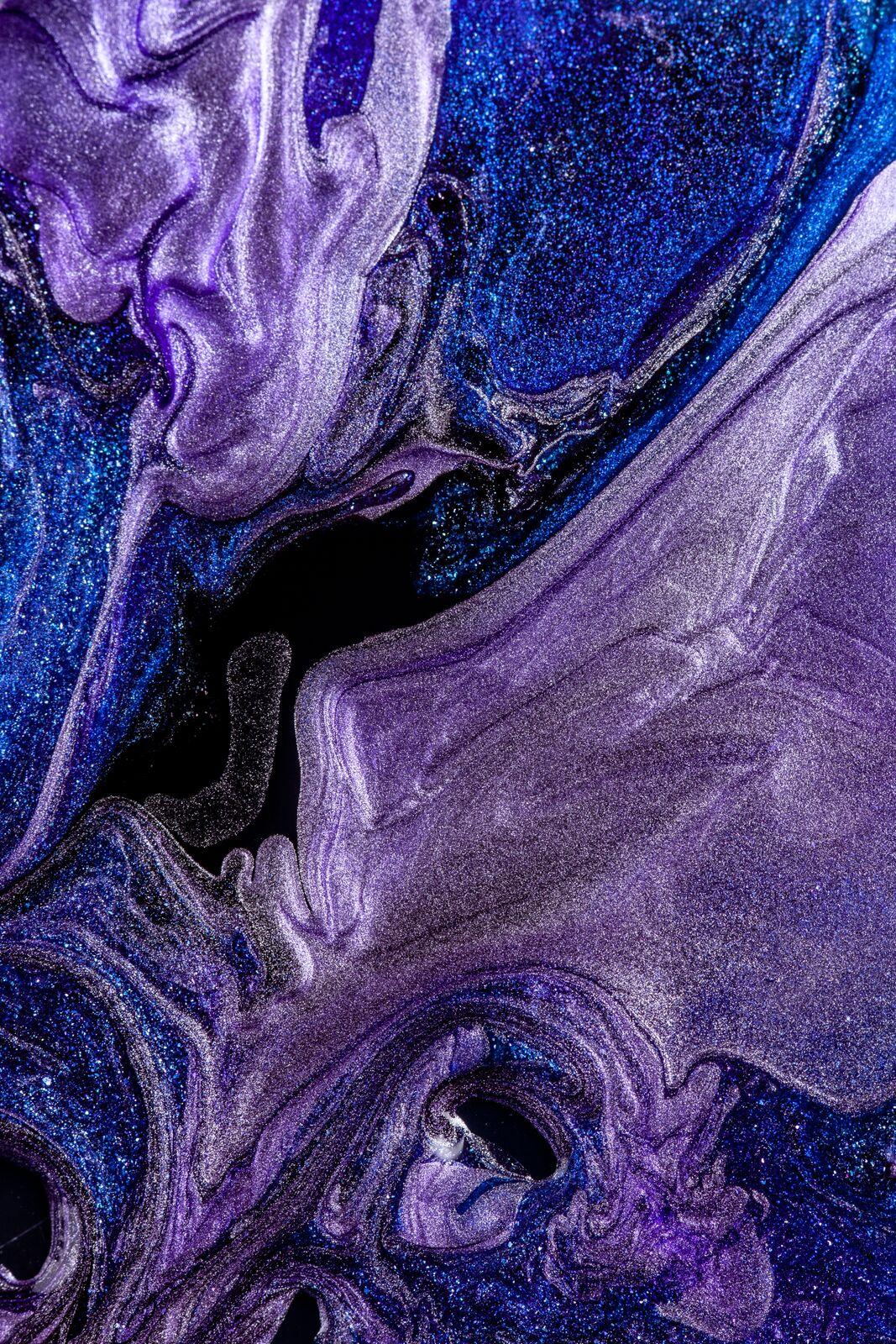 Condensed Shades of Blue and Purple