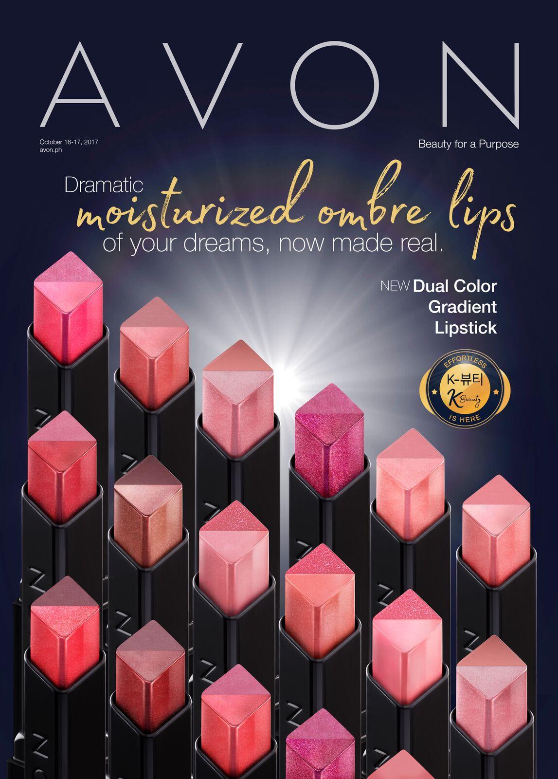 Avon Lipstick Collection Poster