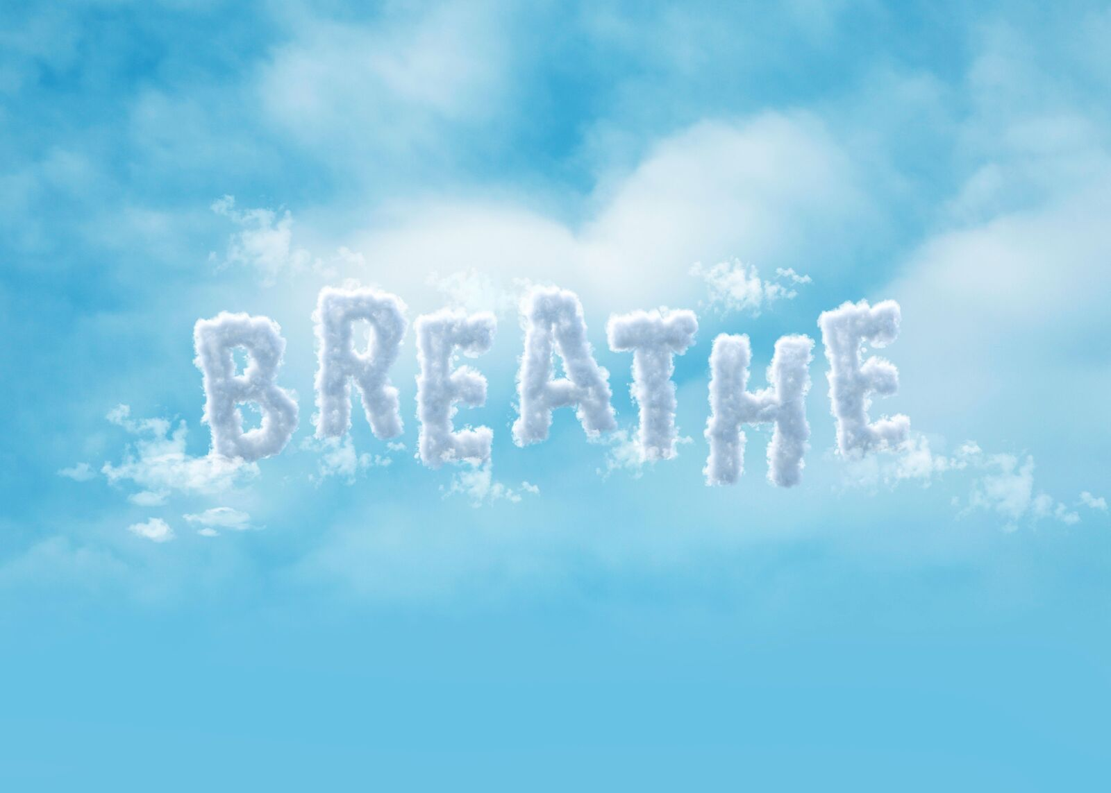 Breathe Creative Clouds Lettering