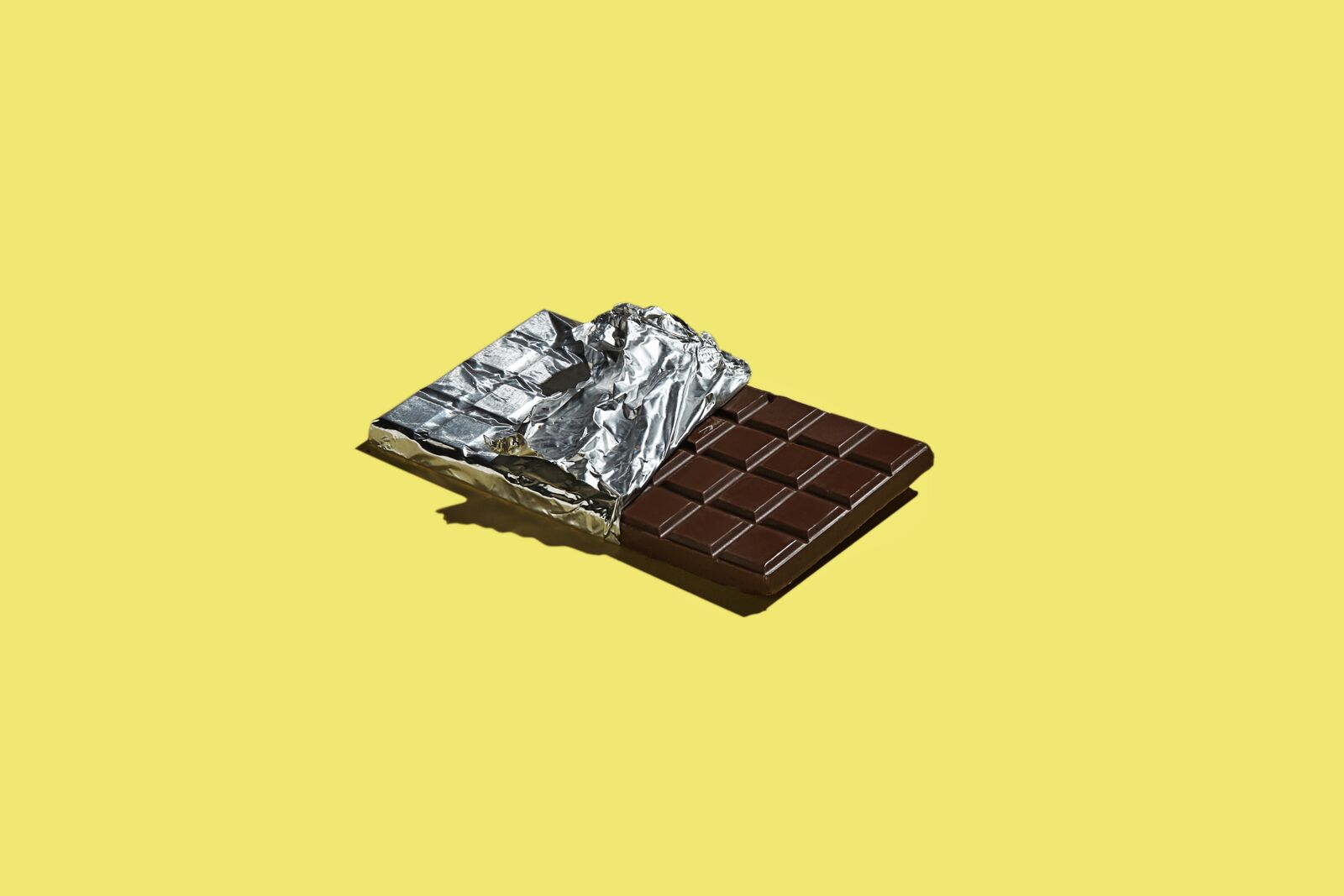 Chocolate Bar with Aluminum Foil Product Photography
