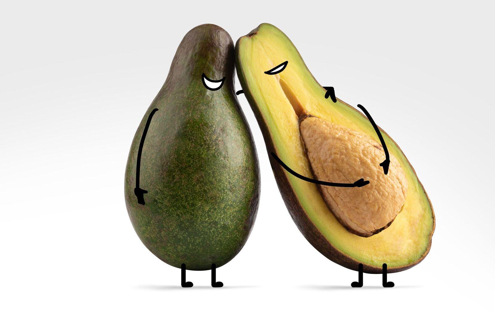A Close Pair of Avocados