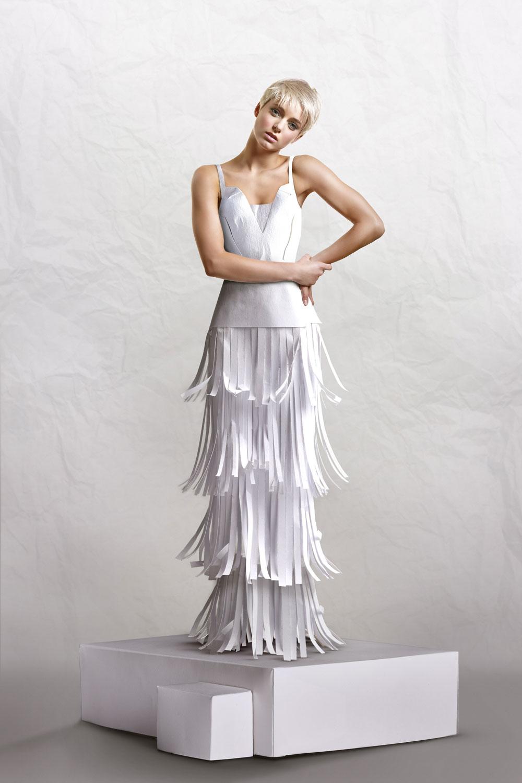 Alice in long white dress