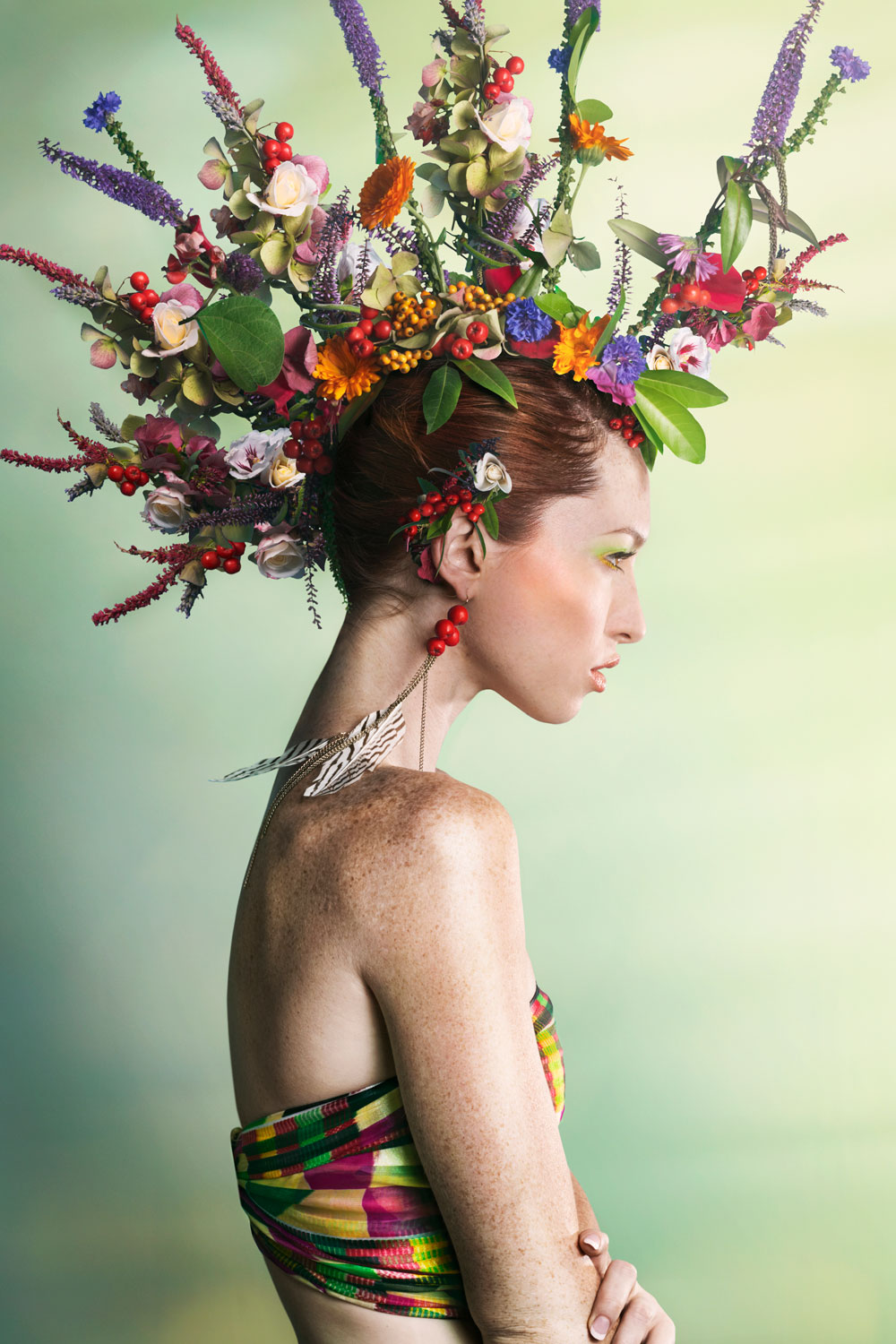 Woman floral fashion