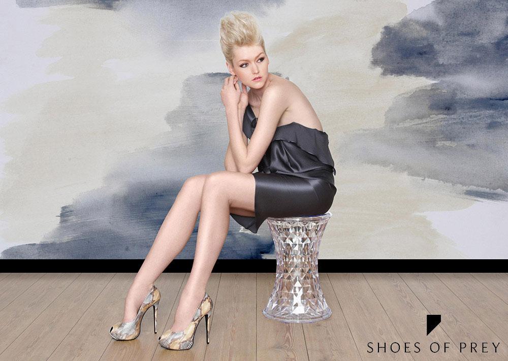 Girl wearing shoes of prey