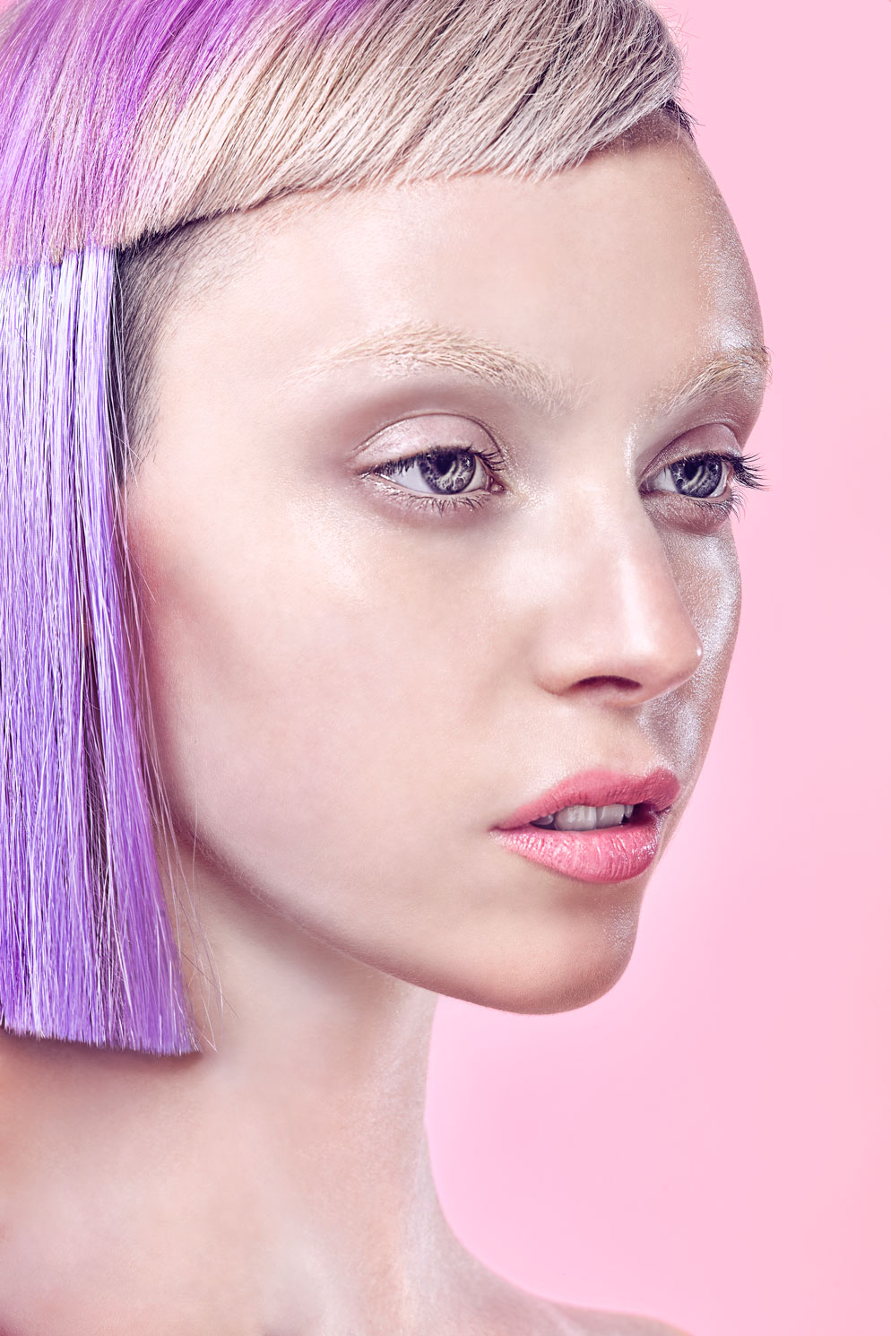 Beauty Photography with Dyed Hair