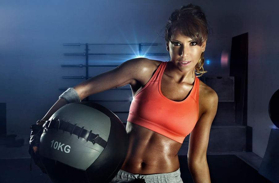 Portrait Sports Photography with Medicine Ball