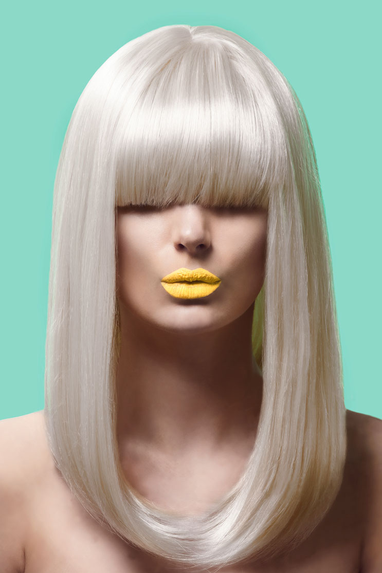 Beauty Photography with Yellow Lipstick