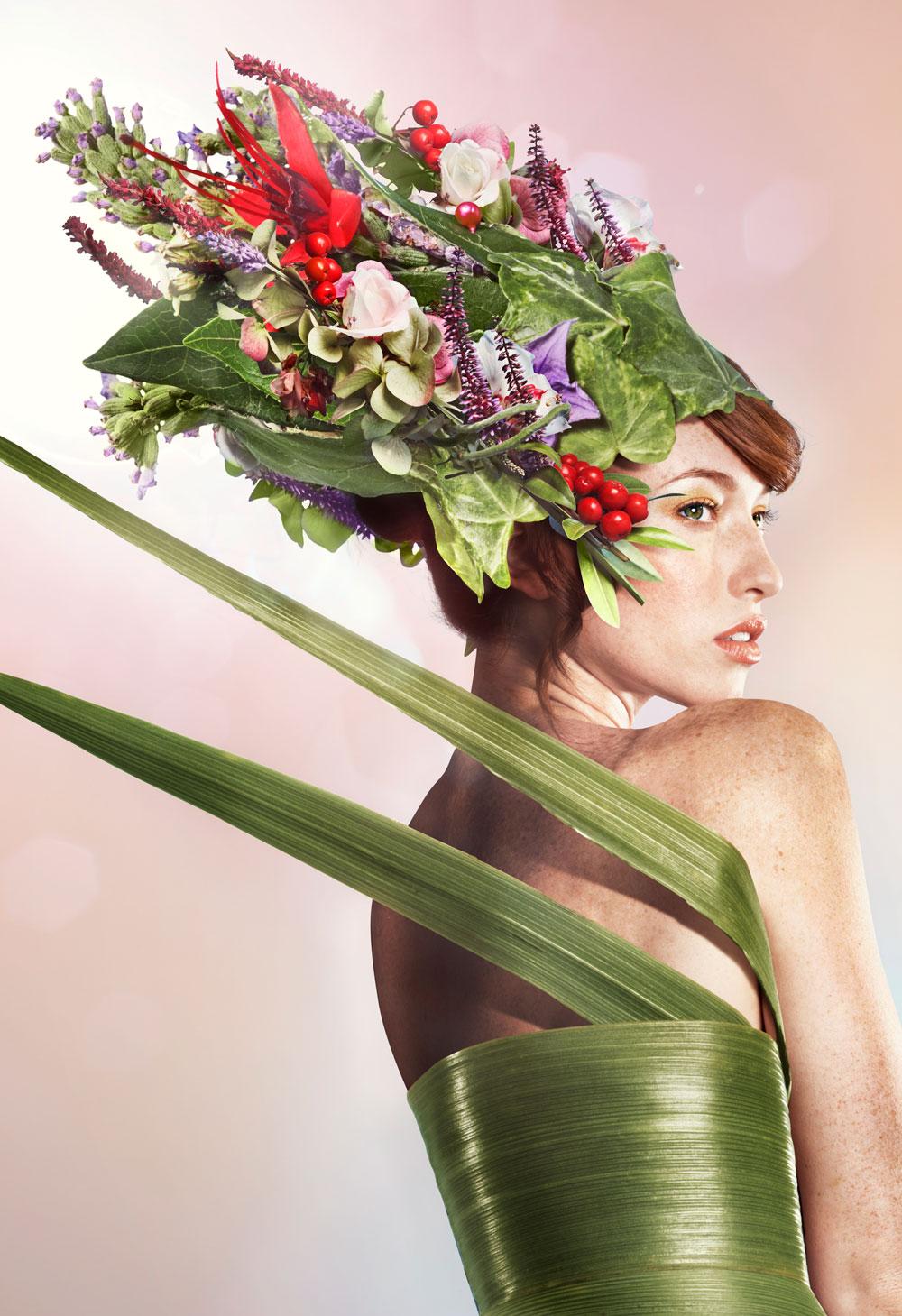Kat in floral hat