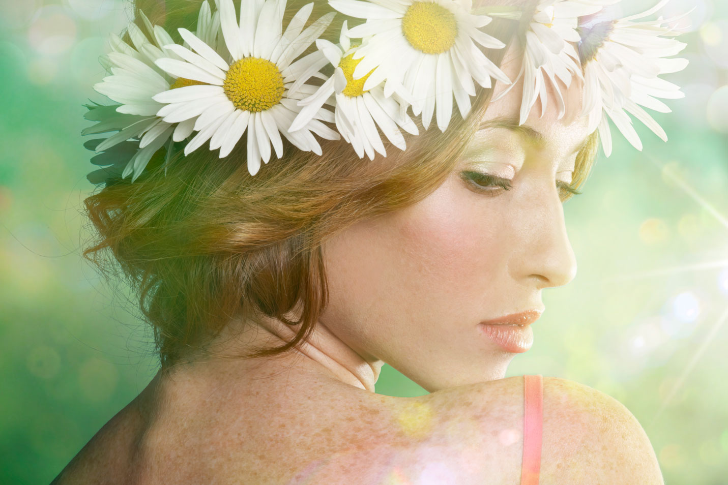 Model with Flower Crown Photography