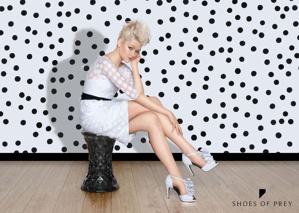 shoes of prey polka dots
