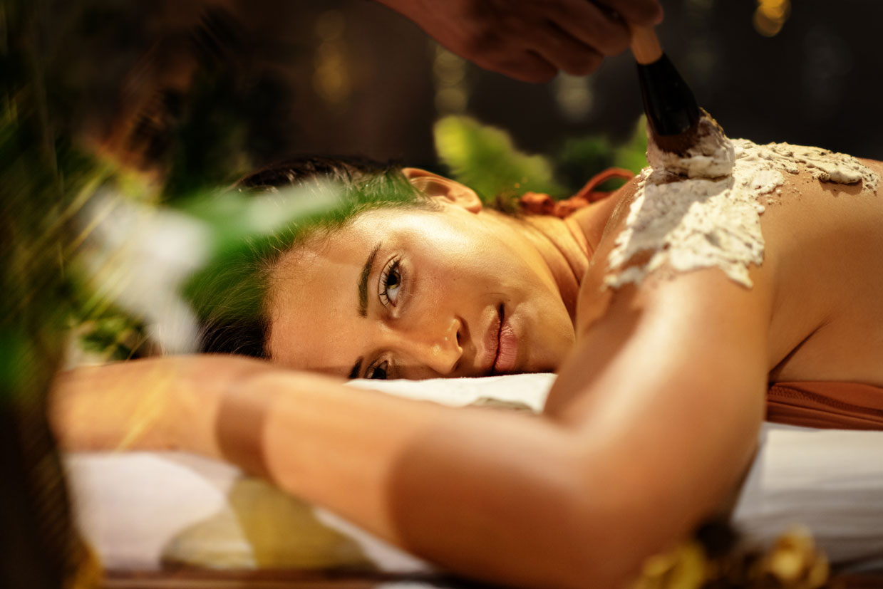 Girl Having a Massage in Spa