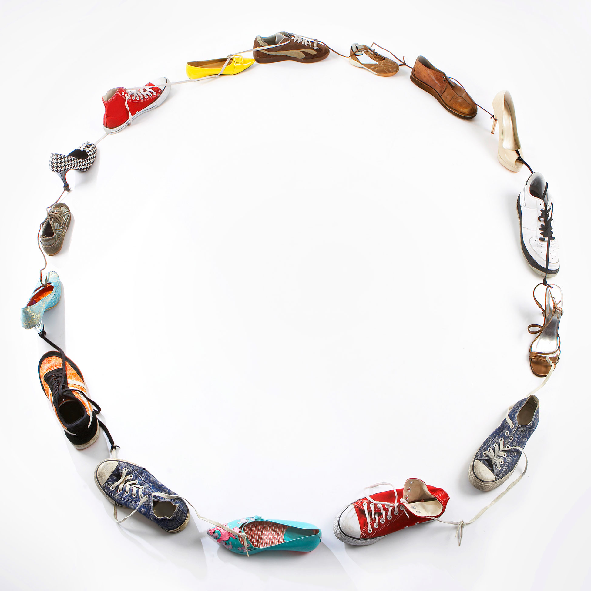 Different Shoes in Circular Arrangement